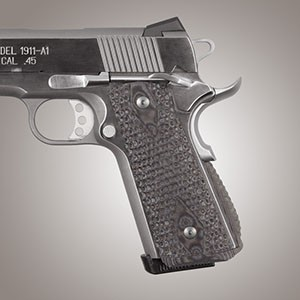 1911 Govt  G10 Magrip Piranha Arched G-Mascus Black/Gray
